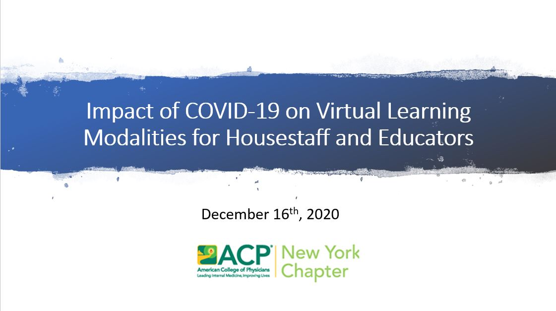 Title Slide for Impact of COVID-19 on Virtual Learning Modalities
