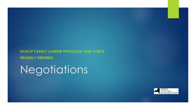 Early Career Physicians - www nyacp org