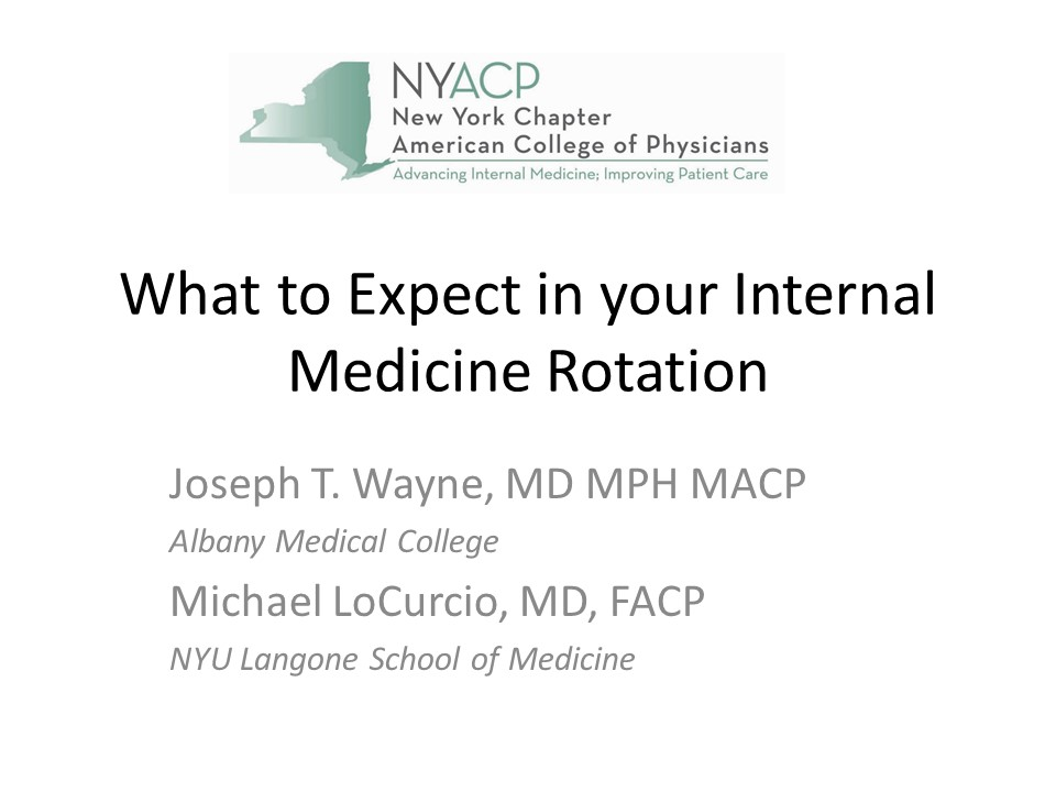 Medical Students - New York Chapter of the American College